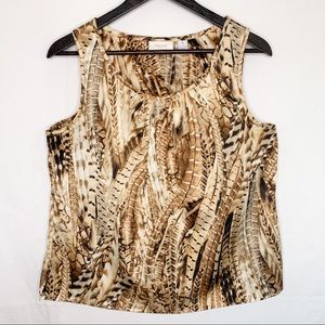 chico's / Feather Print Tank Top